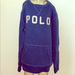 Ralph Lauren Polo Boys Blue Sweater Size 8